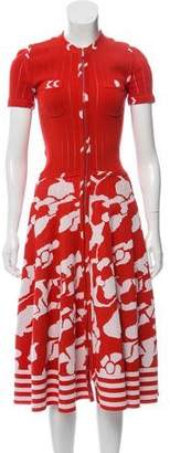 Chanel Patterned Midi Dress