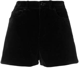 Saint Laurent mini cord short shorts