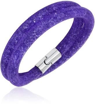 Swarovski Stardust Purple Double Bracelet