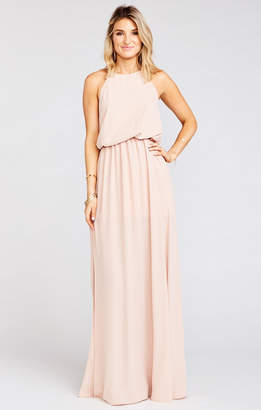 Show Me Your Mumu Heather Halter Dress ~ Dusty Blush Crisp