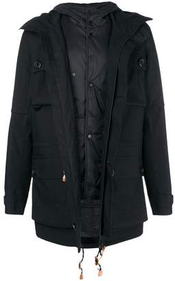 Ermenegildo Zegna cargo pocket hooded coat