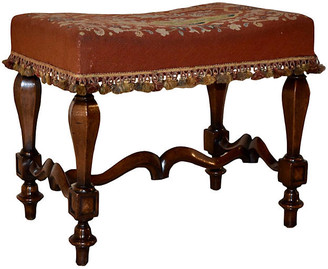 One Kings Lane Vintage 19th-C. French Mahogany Stool - Black Sheep Antiques