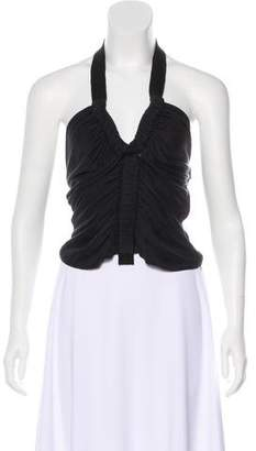 Gucci Ruched Halter Top