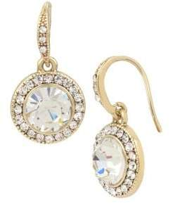 Miriam Haskell Basic Ears Circle Crystal Drop Earrings