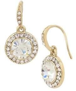 Miriam Haskell Basic Ears Circle Crystal Drop Earrings