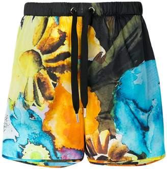 MSGM watercolour print shorts