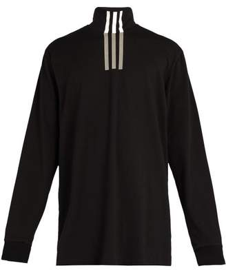 Y-3 - High Neck Technical Cotton T Shirt - Mens - Black