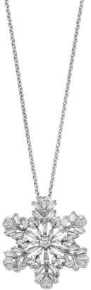 Hallmark Sterling Silver Cubic Zirconia Snowflake Pendant Necklace