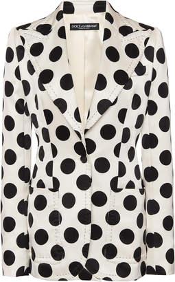 Dolce & Gabbana Duchesse Satin Dot Blazer
