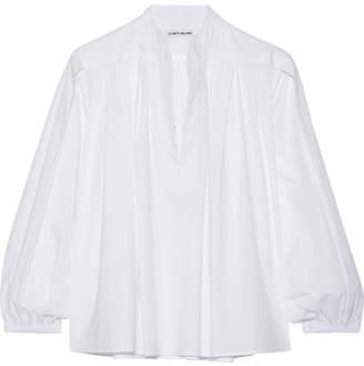 Elizabeth and James - Natal Stretch-cotton Poplin Top - White $325 thestylecure.com