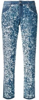 Karl Lagerfeld Paris sequin girlfriend jeans