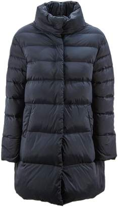Duvetica Blu Nylon Medium Length Down Jacket.