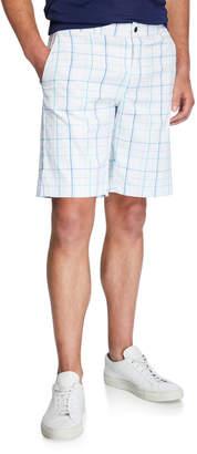Callaway-Perry Ellis Men's Fashion Plaid Shorts