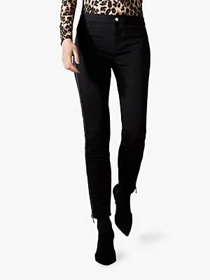 Karen Millen Skinny Fit Jeans, Black