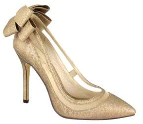 Menbur Crusy Back Bow Pointed-Toe Pumps $143 thestylecure.com