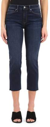 Mavi Jeans Niki Frayed Hem Crop Jeans (Deep Frayed Tribeca)