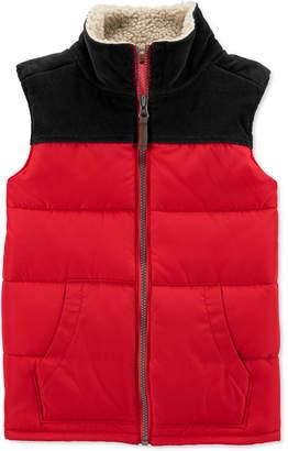 Carter's Carter Little & Big Boys Fleece-Trim Colorblocked Vest