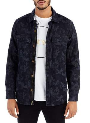 True Religion Camouflage-Print Denim Field Jacket