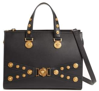 Versace Tribute Top Handle Leather Satchel