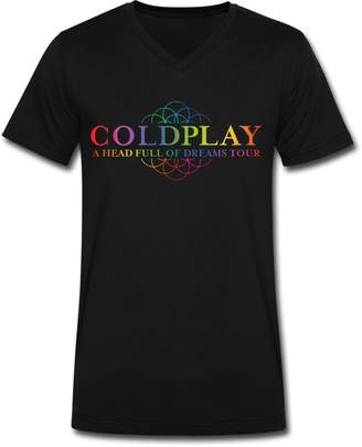 Dolce & Gabbana THE BRAND GD Men's Coldplay a Head Full of Dreams Tour V Neck T-shirt XXL