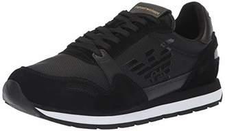Emporio Armani Men's Lace Up Logo Fashion Sneaker Black