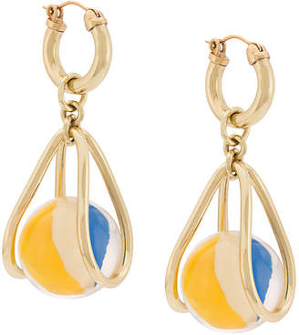 Ellery stone charm earrings