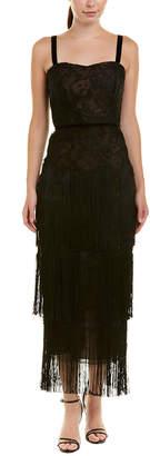 David Meister Embellished Midi Dress