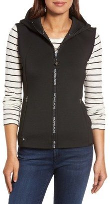 Women's Michael Michael Kors Hooded Neoprene Vest $150 thestylecure.com