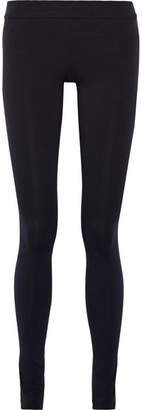 The Row Stratton Stretch-cotton Jersey Leggings - Navy