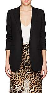 Saint Laurent Women's Wool Gabardine Two-Button Blazer - Black