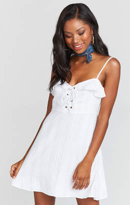 Show Me Your Mumu Adrianna Corset Dress ~ Mirage Gauze White