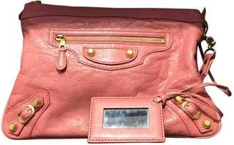 Balenciaga City leather clutch bag