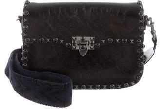 Valentino Rockstud Rolling Noir Shoulder Bag