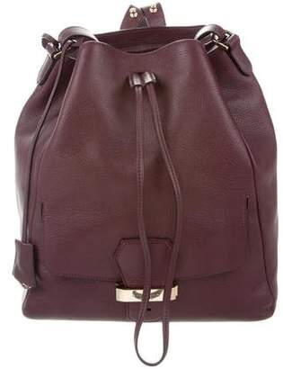Smythson Grained Leather Backpack