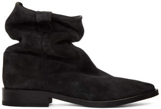 Isabel Marant Black Cryston Velvet Boots