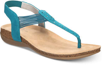 Bandolino Honour B-Flexible Wedge T-strap Sandals Women's Shoes