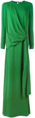Lanvin draped long dress $3,280 thestylecure.com