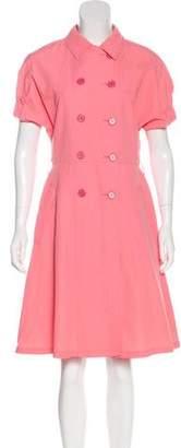 Prada Flared Knee-Length Dress