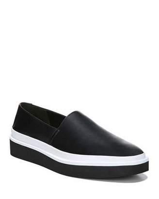 Via Spiga Travis Leather Platform Sneakers