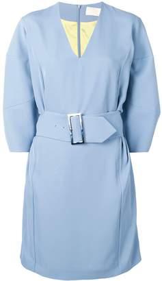 Sara Battaglia belted waist dress