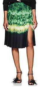 Altuzarra Women's Zurina Pleated Tie-Dyed Skirt - Ceramic Green