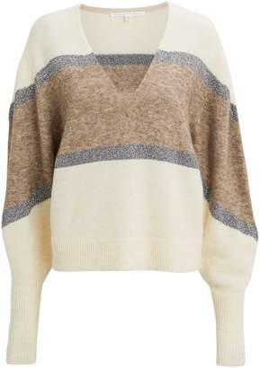 Veronica Beard Miley Lurex Stripe Sweater
