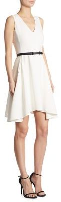 DKNY Belted A-Line Dress