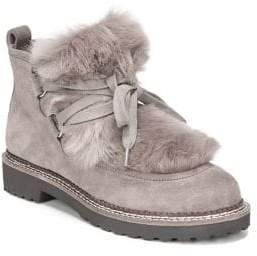Franco Sarto Highland Faux Fur Suede Ankle Boots