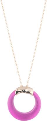 Alexis Bittar Circle Pendant Necklace