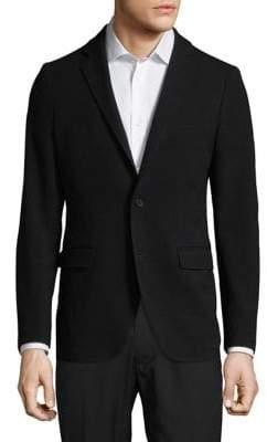 Black & Brown Black Brown Notch Suit Jacket
