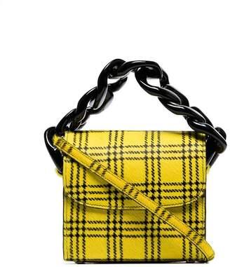 Marques Almeida Marques'almeida Tartan Chain Pony Hair Mini Bag