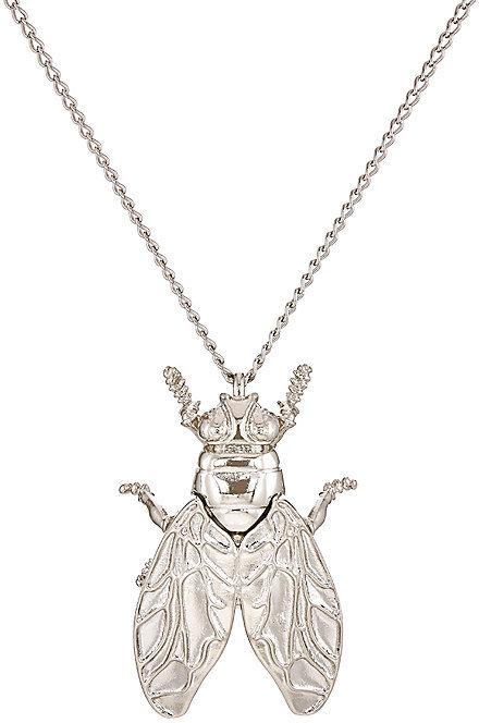 Balenciaga Balenciaga Women's Bug Pendant Necklace