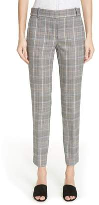 Theory Autumn Plaid Straight Trousers