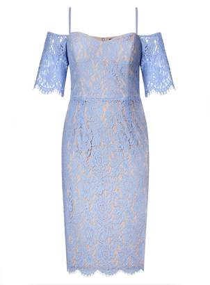 City Chic **City Chic Blue Lace Dress
